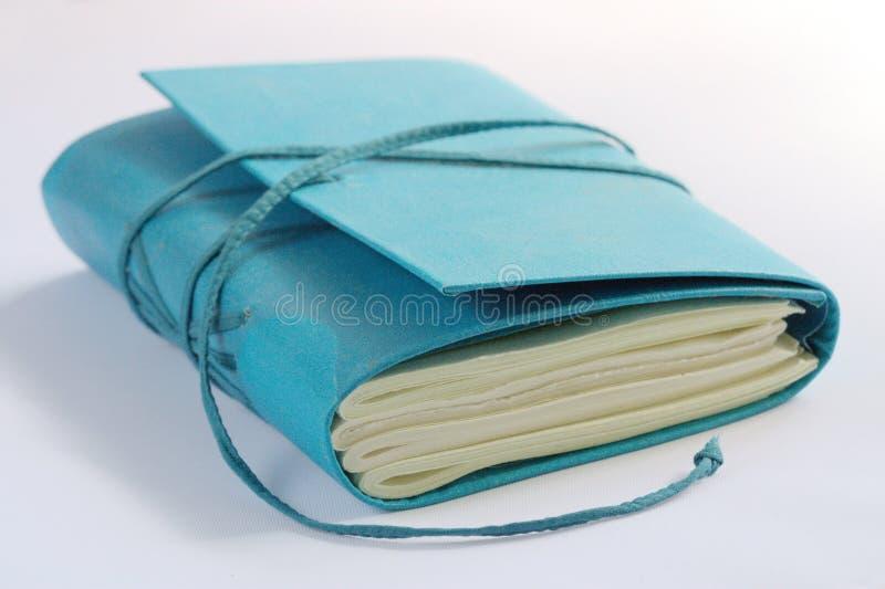 Mão - caderno feito fotografia de stock royalty free