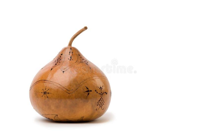 A mão cinzelou a arte do gourd imagem de stock royalty free