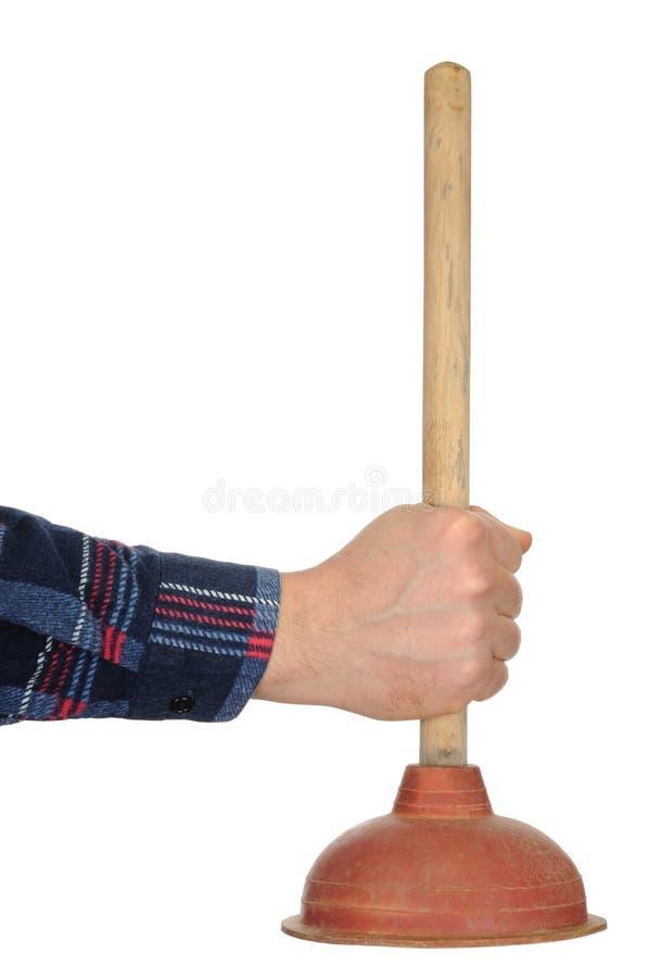 Mão com atuador imagens de stock
