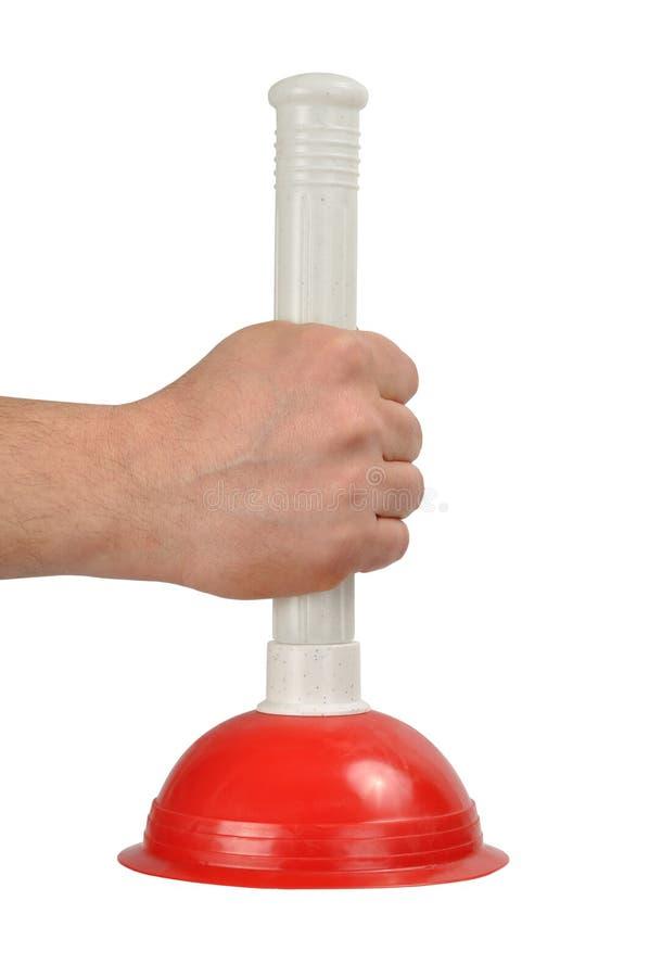 Mão com atuador fotografia de stock