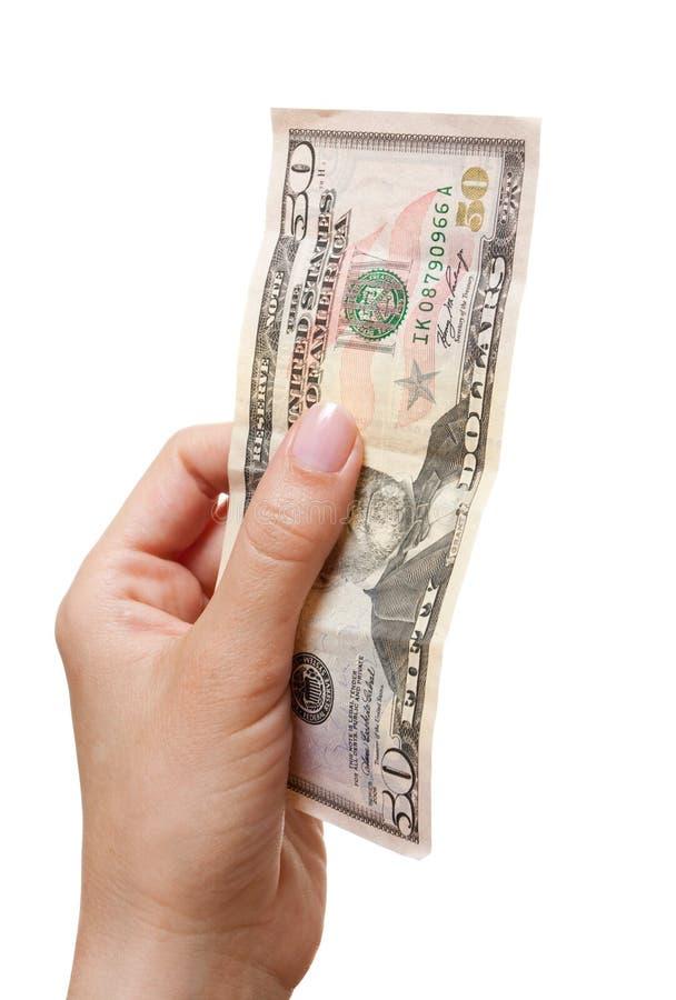 Download Mão com dólares imagem de stock. Imagem de mudança, objetos - 10055225