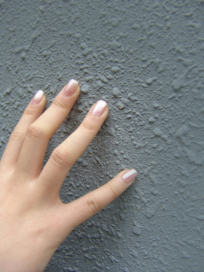 Mão com dedos manicured imagens de stock royalty free