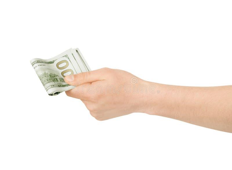 Mão com dinheiro imagens de stock