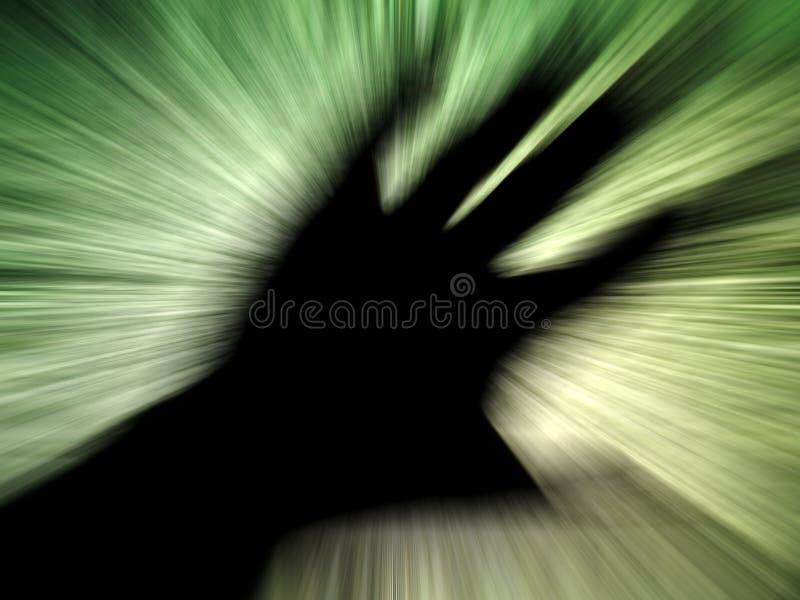 Mão com efeito do zoom fotografia de stock