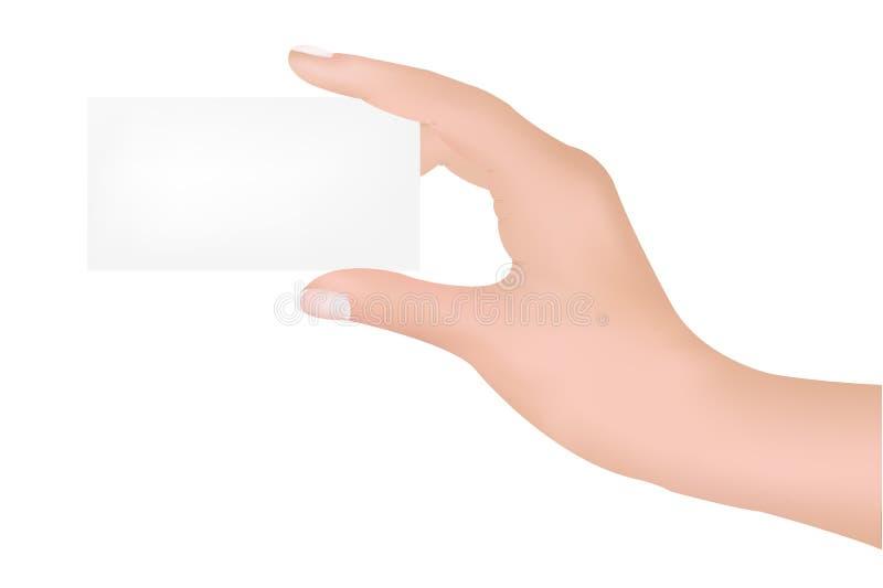 Mão com espaço em branco ilustração do vetor