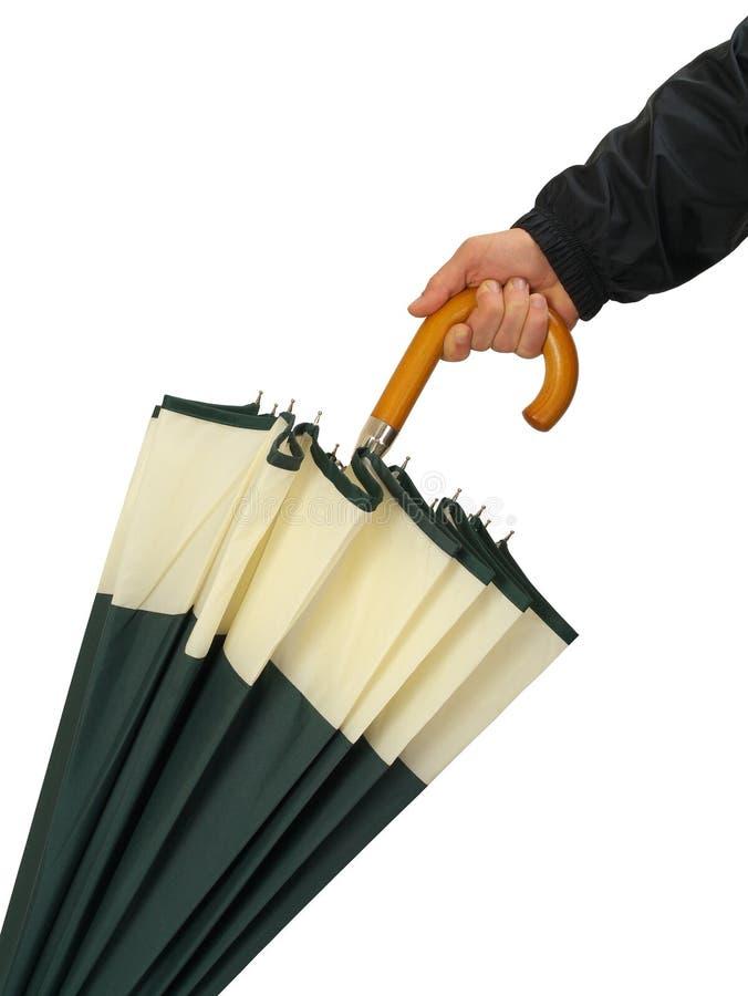 Mão com guarda-chuva imagem de stock