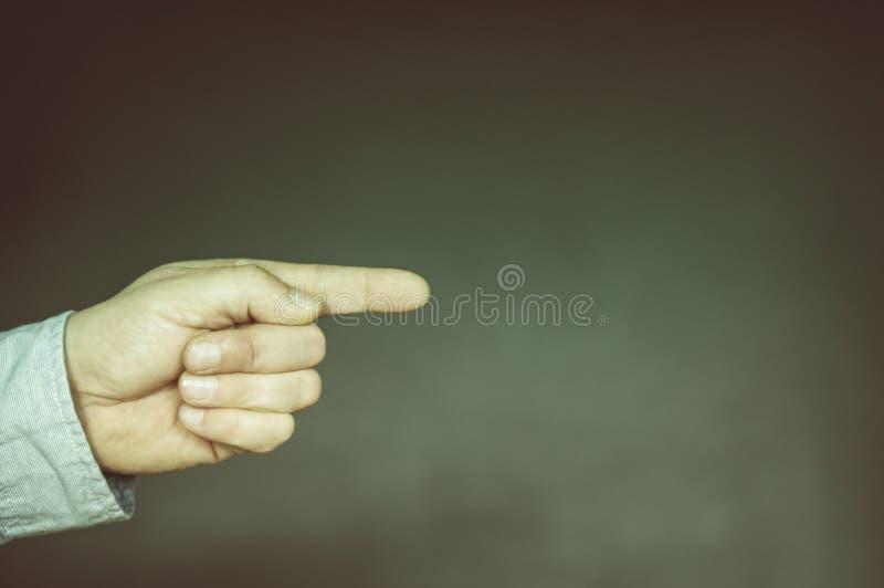 Mão com o indicador prolongado imagem de stock royalty free