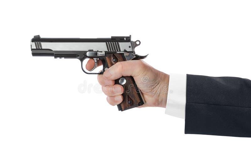 Mão com pistola fotografia de stock