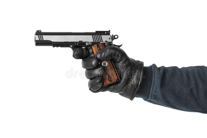 Mão com pistola imagem de stock royalty free