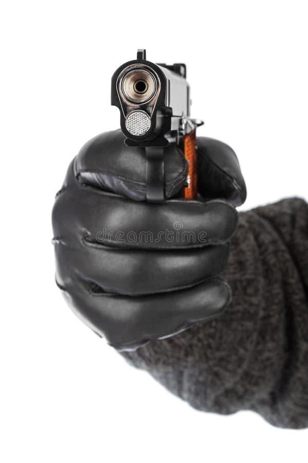 Mão com pistola foto de stock royalty free