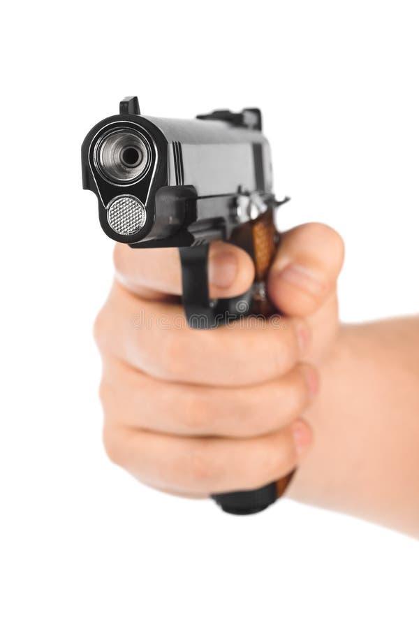 Mão com pistola imagem de stock