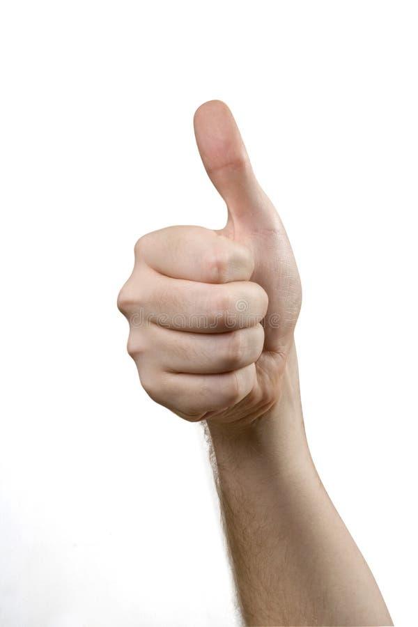 Mão com polegar acima foto de stock