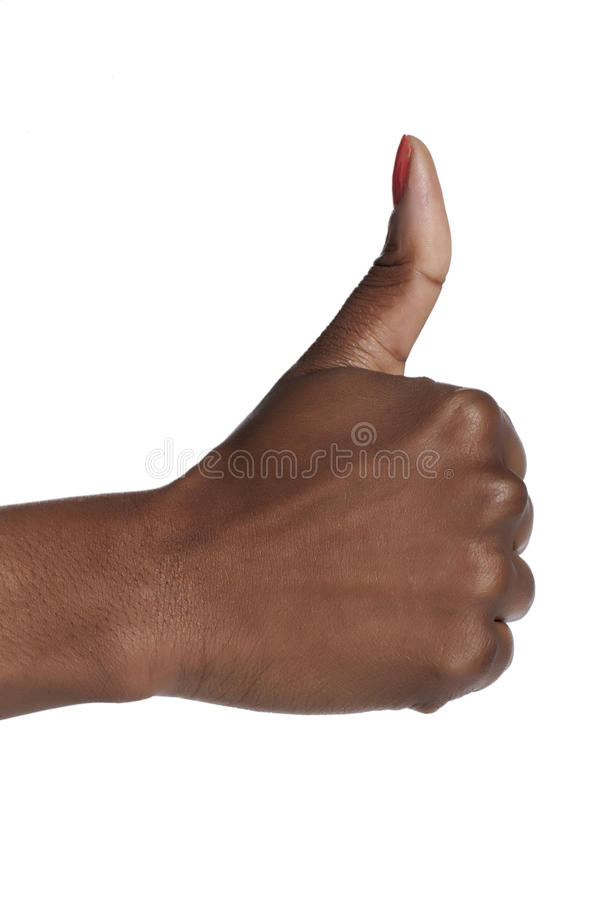 Mão com polegares acima imagens de stock