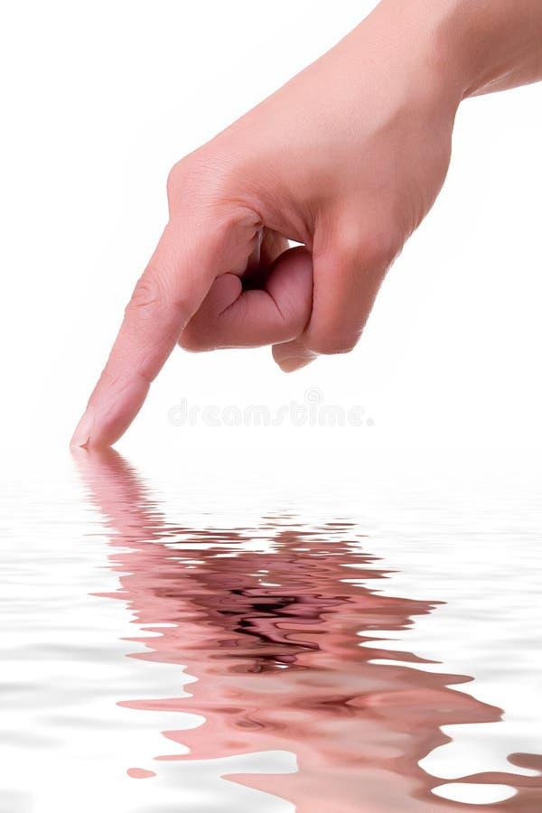 Mão com reflexão imagens de stock