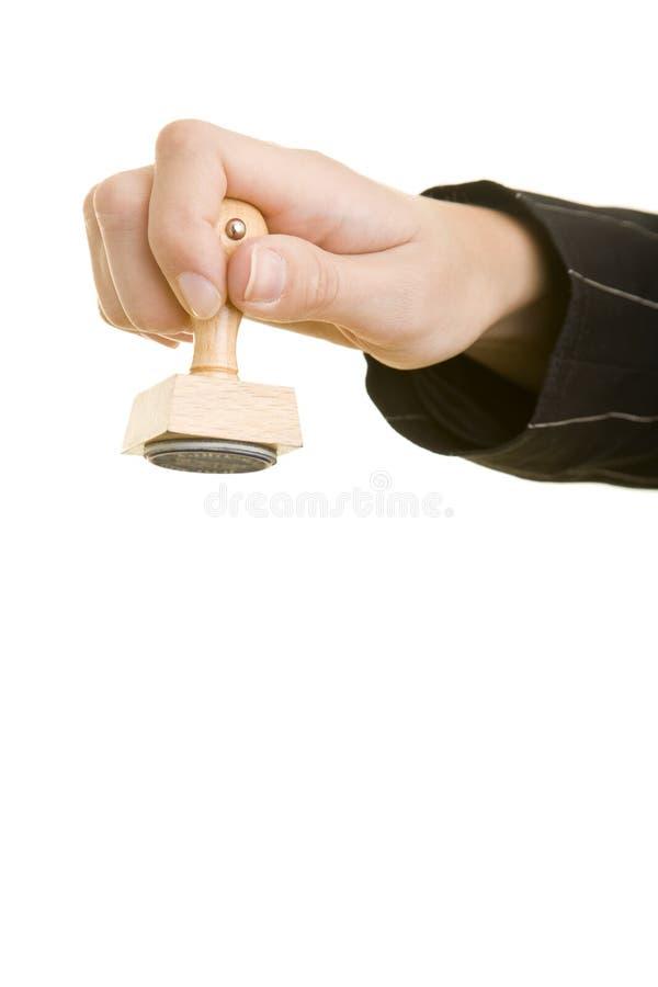 Mão com selo fotos de stock royalty free