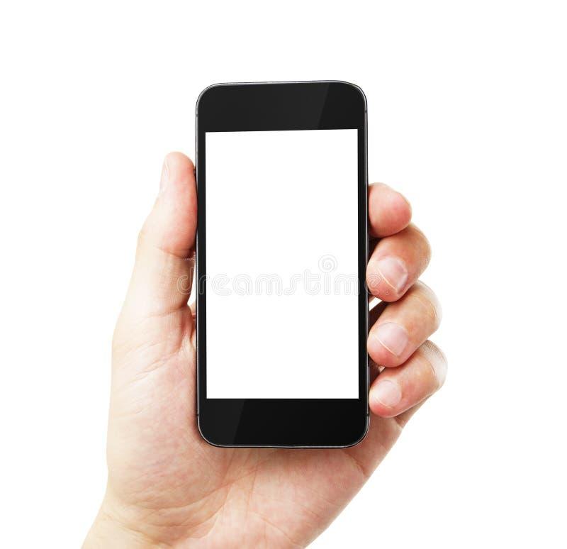 Mão com telefone celular vazio