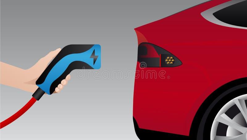 Mão com tomada de carregamento ilustração do vetor