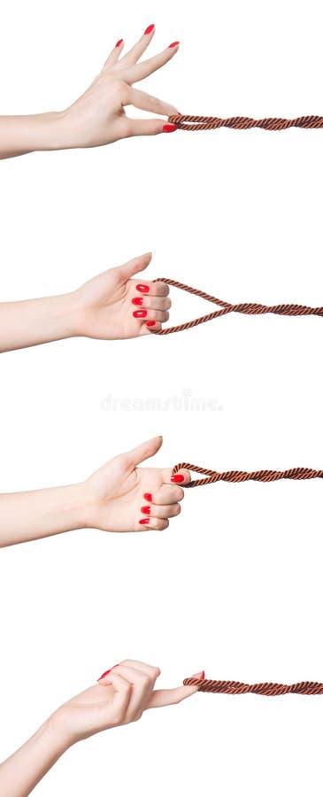 Mão com um cabo