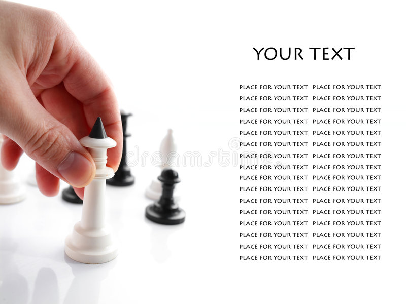 Mão com xadrez fotos de stock royalty free