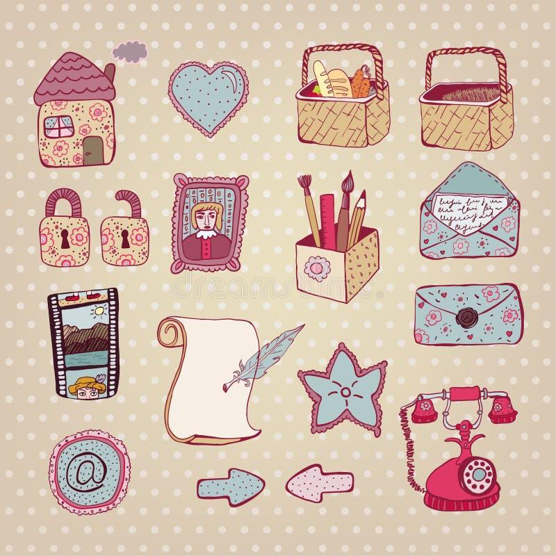 Mão creativa jogo desenhado do ícone do Web ilustração royalty free