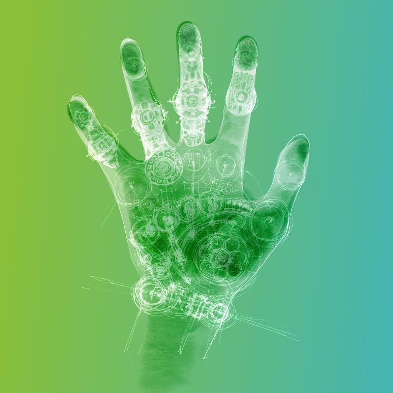 Mão Cybernetic ilustração royalty free