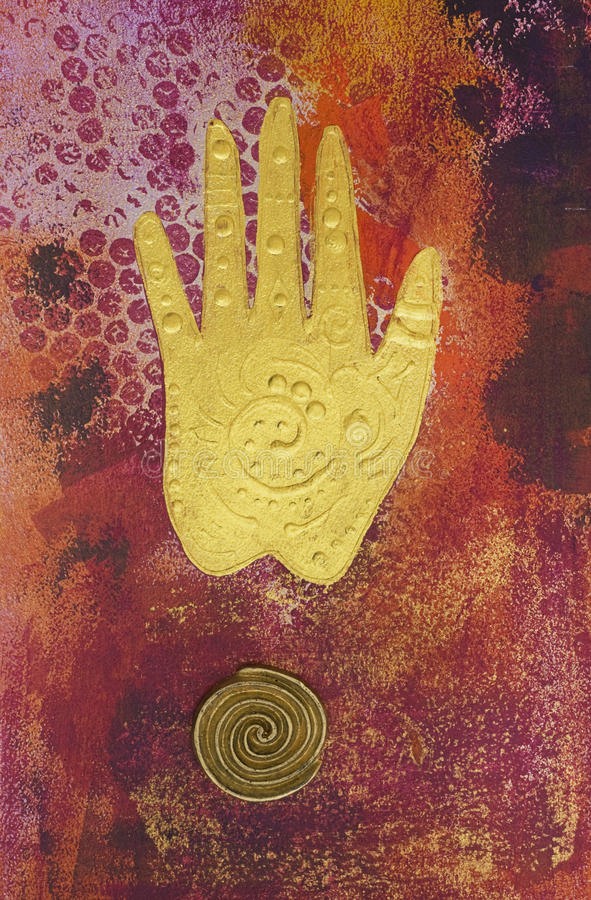 Mão da arte -final ilustração stock