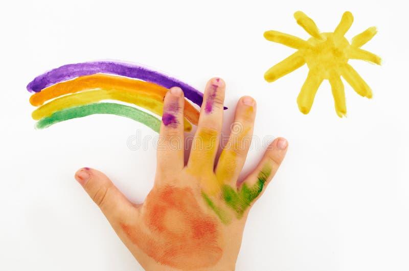 A mão da criança imagens de stock royalty free