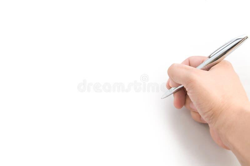 Download Mão da escrita foto de stock. Imagem de assinatura, holding - 10054206
