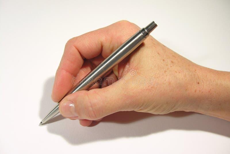 Mão da escrita fotografia de stock royalty free