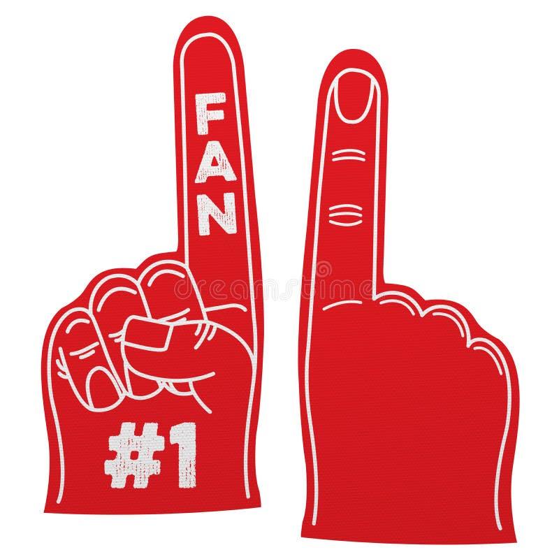 Mão da espuma do fã do número 1 ilustração stock