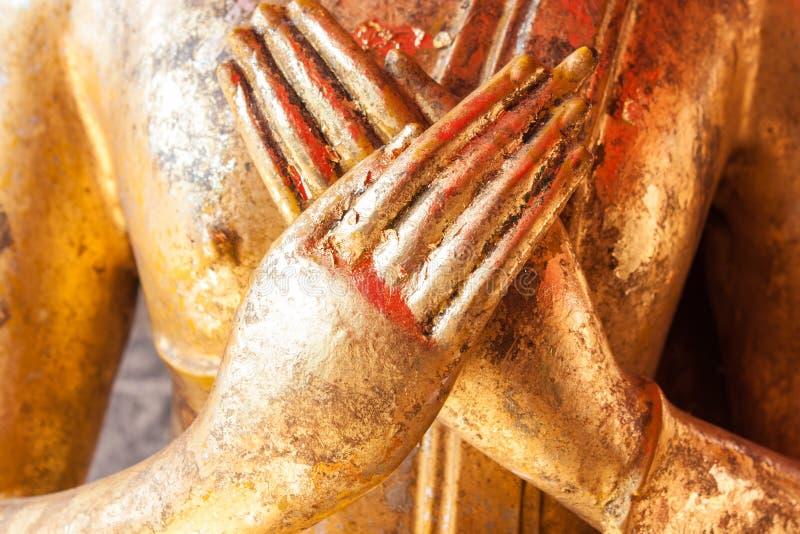 Mão da estátua da Buda fotografia de stock royalty free
