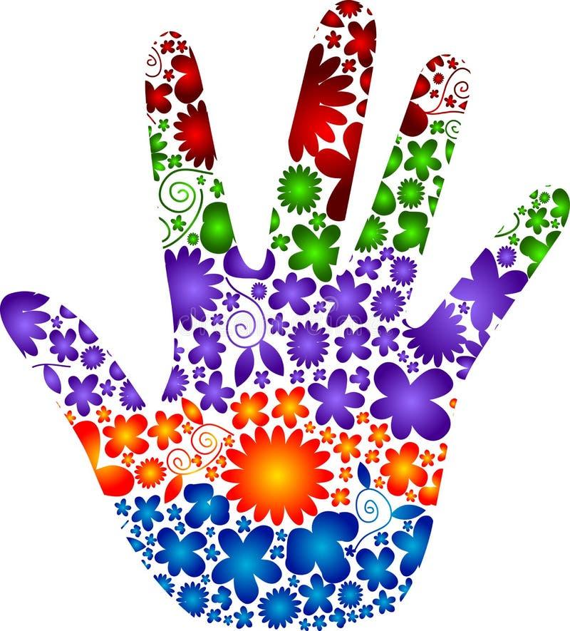 Mão da flor ilustração royalty free