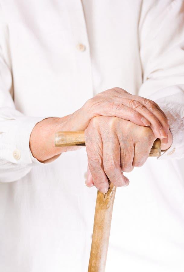 Mão da mulher adulta foto de stock