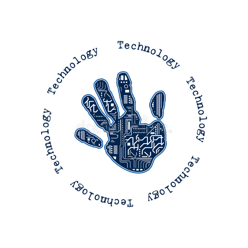 Mão da tecnologia ilustração do vetor