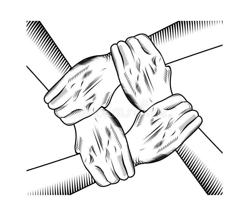 Mão da unidade ilustração do vetor