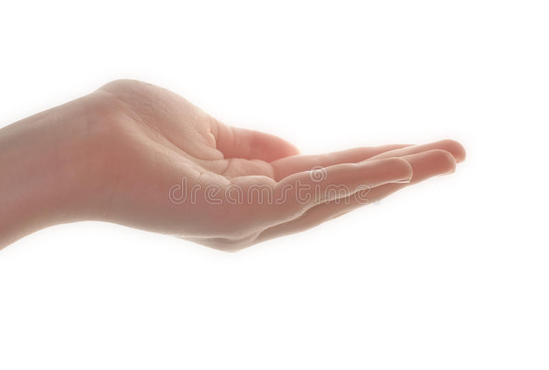 Mão dada forma poço da mulher fotos de stock