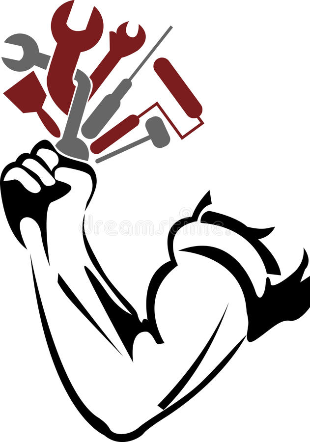 Mão das ferramentas ilustração do vetor