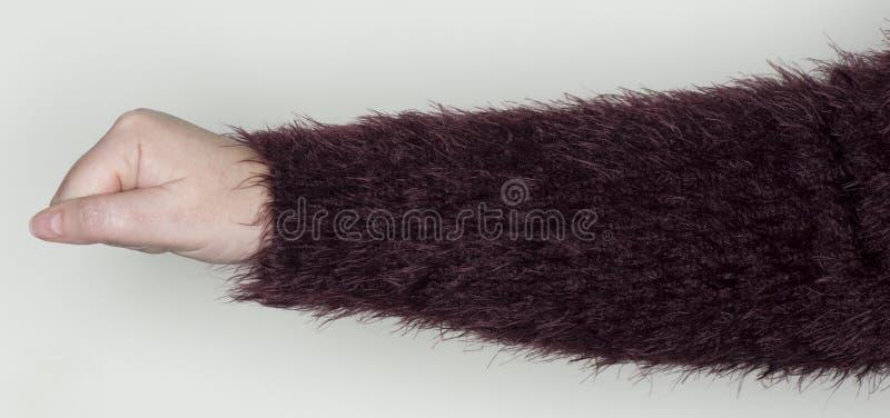 A mão das mulheres mostra um gesto como uma linguagem gestual fotos de stock