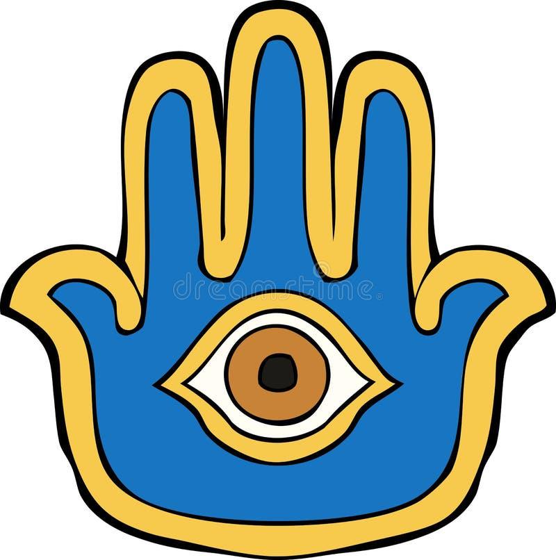 Mão de Hamsa ilustração do vetor