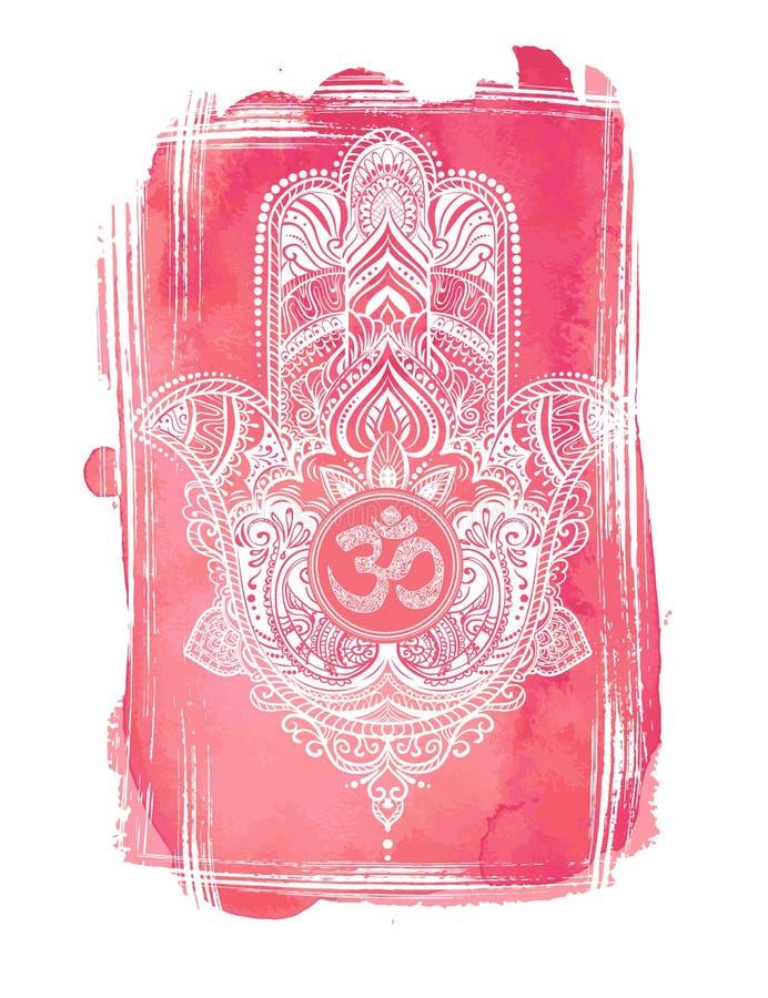 Mão de Hamsa de Fatima ilustração stock