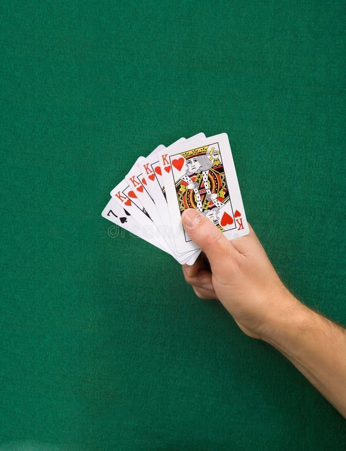 Mão de póquer impossível imagem de stock