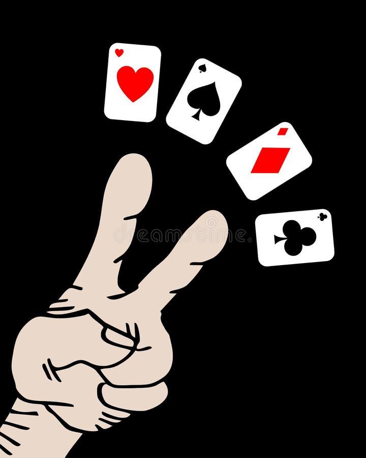 Mão de pôquer ilustração do vetor