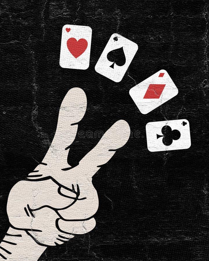 Mão de pôquer ilustração stock