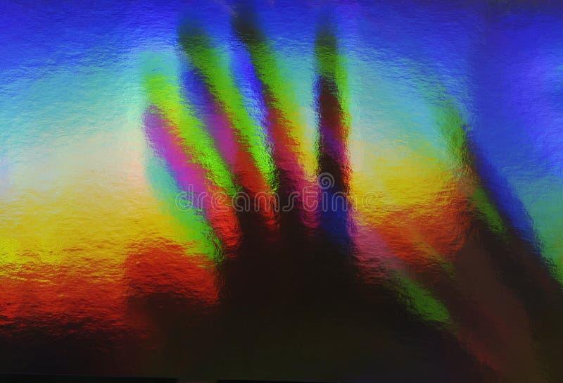 Mão de Prismatronic imagem de stock
