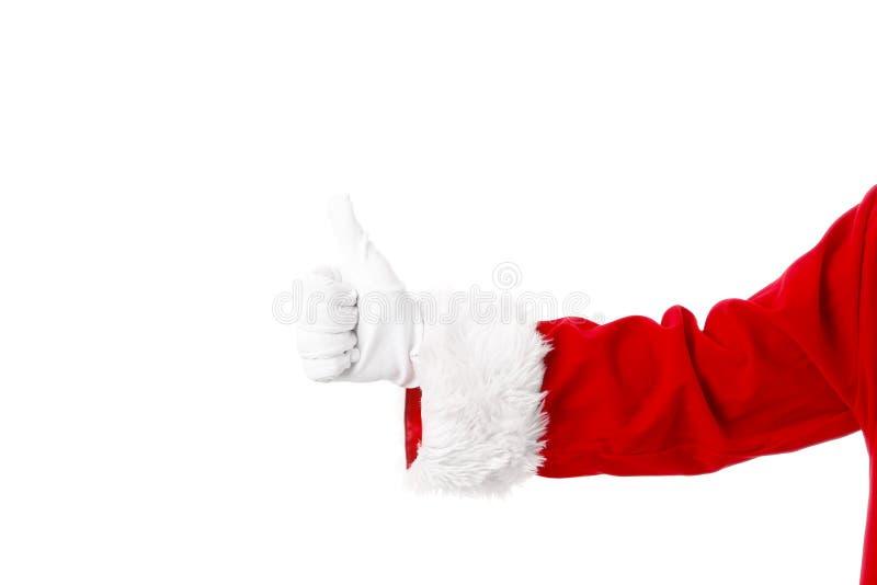 Mão de Santa Claus fotos de stock