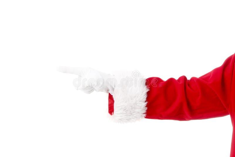 Mão de Santa Claus fotos de stock royalty free