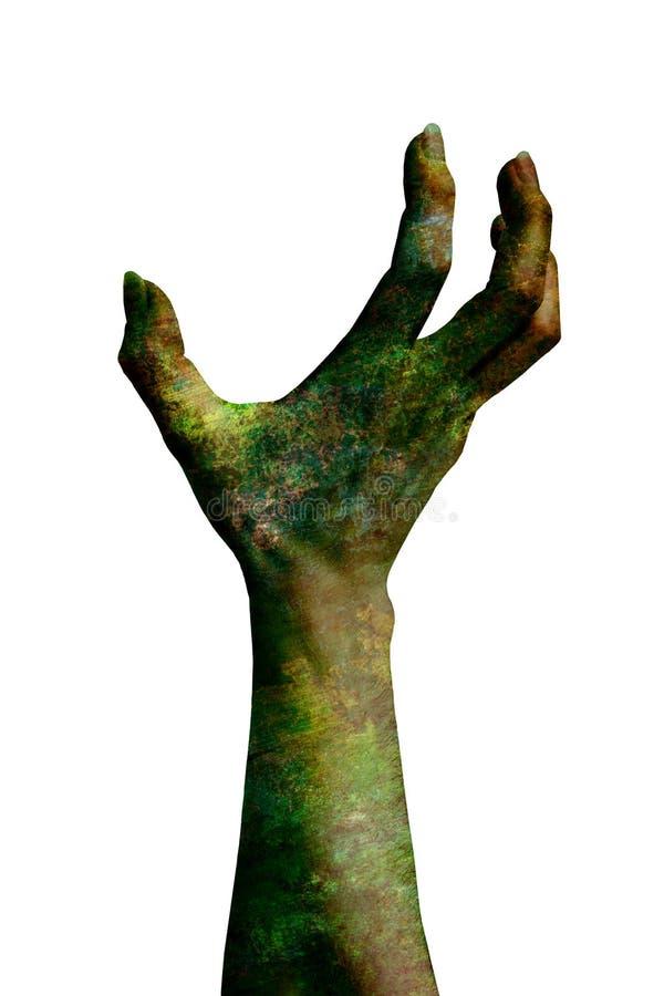 Mão demoníaco isolada no branco ilustração do vetor