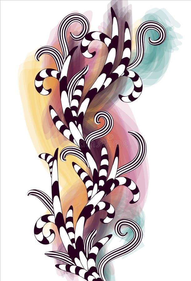 Mão desarrumado fundo desenhado ilustração stock