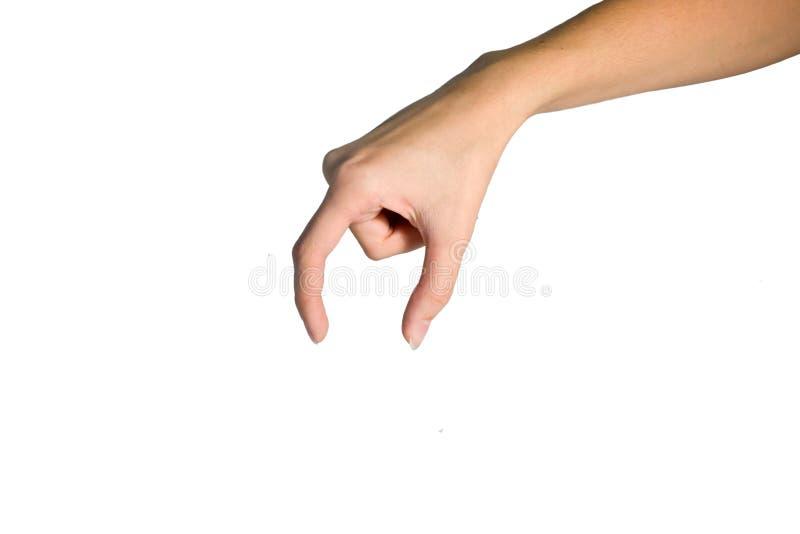 A mão descreve o símbolo imagens de stock royalty free