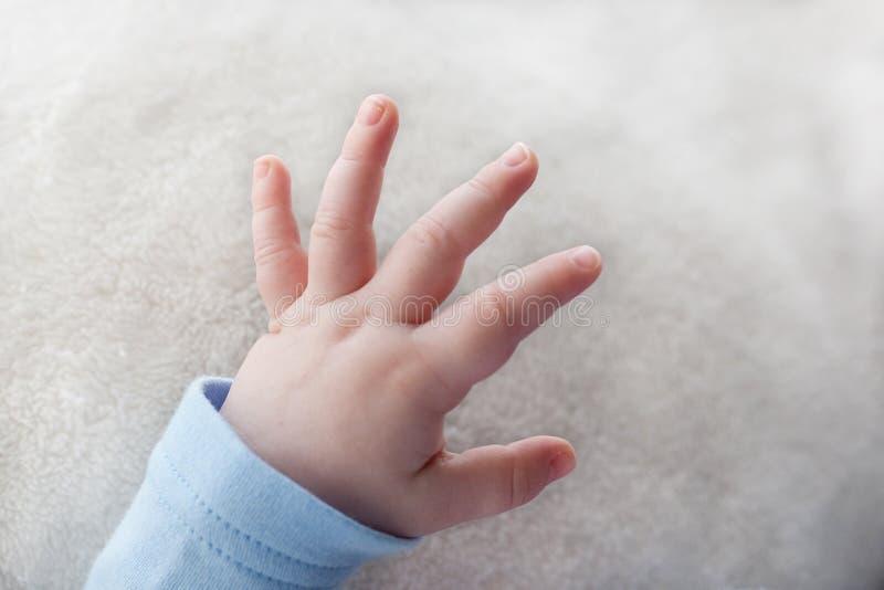 Mão do bebê fotografia de stock